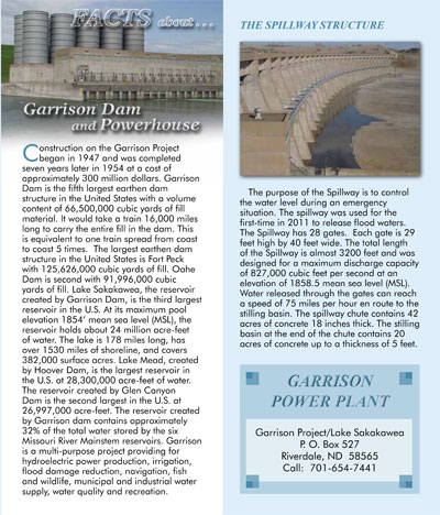 Facts About Garrison Dam Brochure